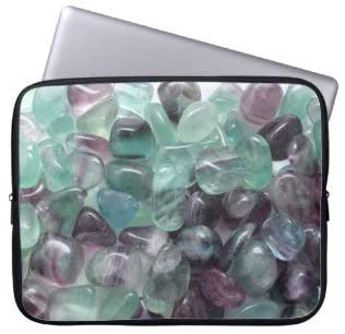 Fluorite Crystals Laptop Sleeve Bag Notebook Computer PC Neoprene Protection Zipper Case Cover 17 Inch