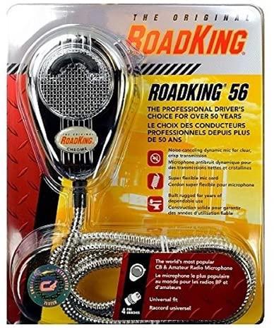 RoadKing RK56CHSS Chrome 4-Pin Dynamic Noise Canceling CB Mic with Chrome Cord