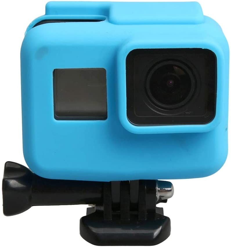 XHC Protective Case, for GoPro HERO5 Silicone Border Frame Mount Housing Protective Case Cover Shell(Black) (Color : Blue)