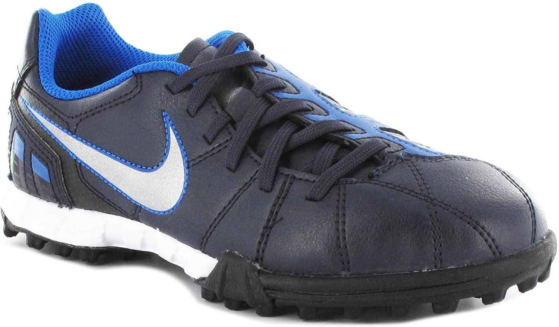 Nike Junior Total 90 Shoot III TF Soccer Turf Shoe (1.5Y) Black Blue
