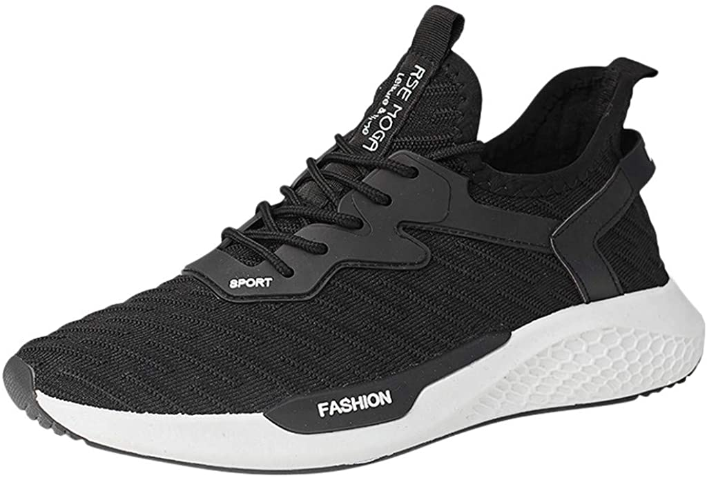 Overmal Men Running Shoes, Fashion Casual Hiking Athletic Walking Sport Comfortable Fashion Breathable Lightweight Sneakers
