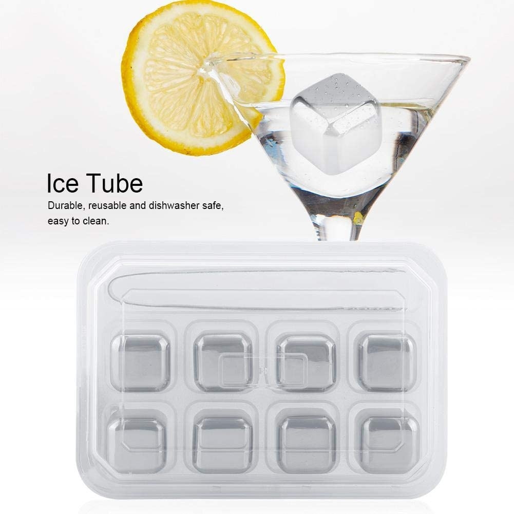 Whiskey Stones Freezer Storage Tray Beverage Rocks Drink Chiller, Reusable Ice Stone, for Whiskey Wine Beverage Bar(Eight pack)