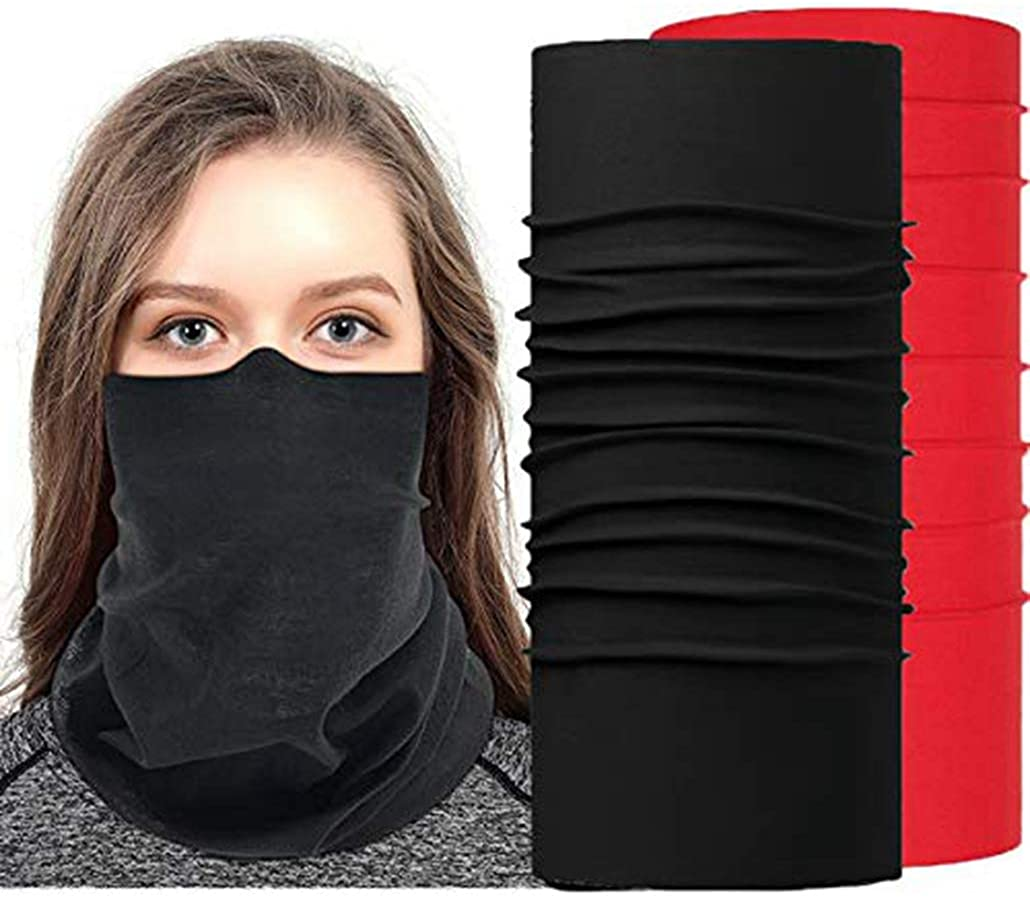Face Mask Bandanas,Seamless Neck Gaiter Face Scarf,Sun UV Protection Balaclava Neck Gaiter Face Mask Multi Functional Headband, Bandanas,Scarf,Headwear for Outdoor Sports 2 Pack