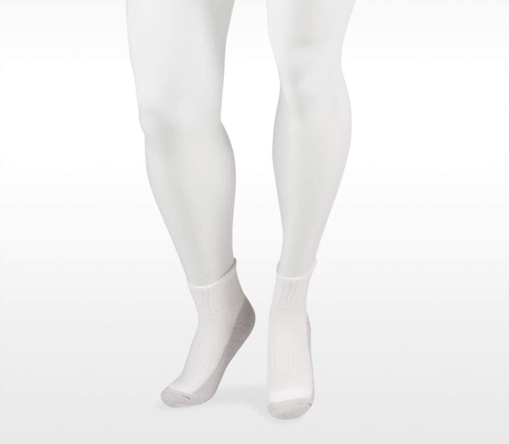 Juzo 5760 12-16mmhg Silver Sole Diabetic Compression Low Cut Socks for Men
