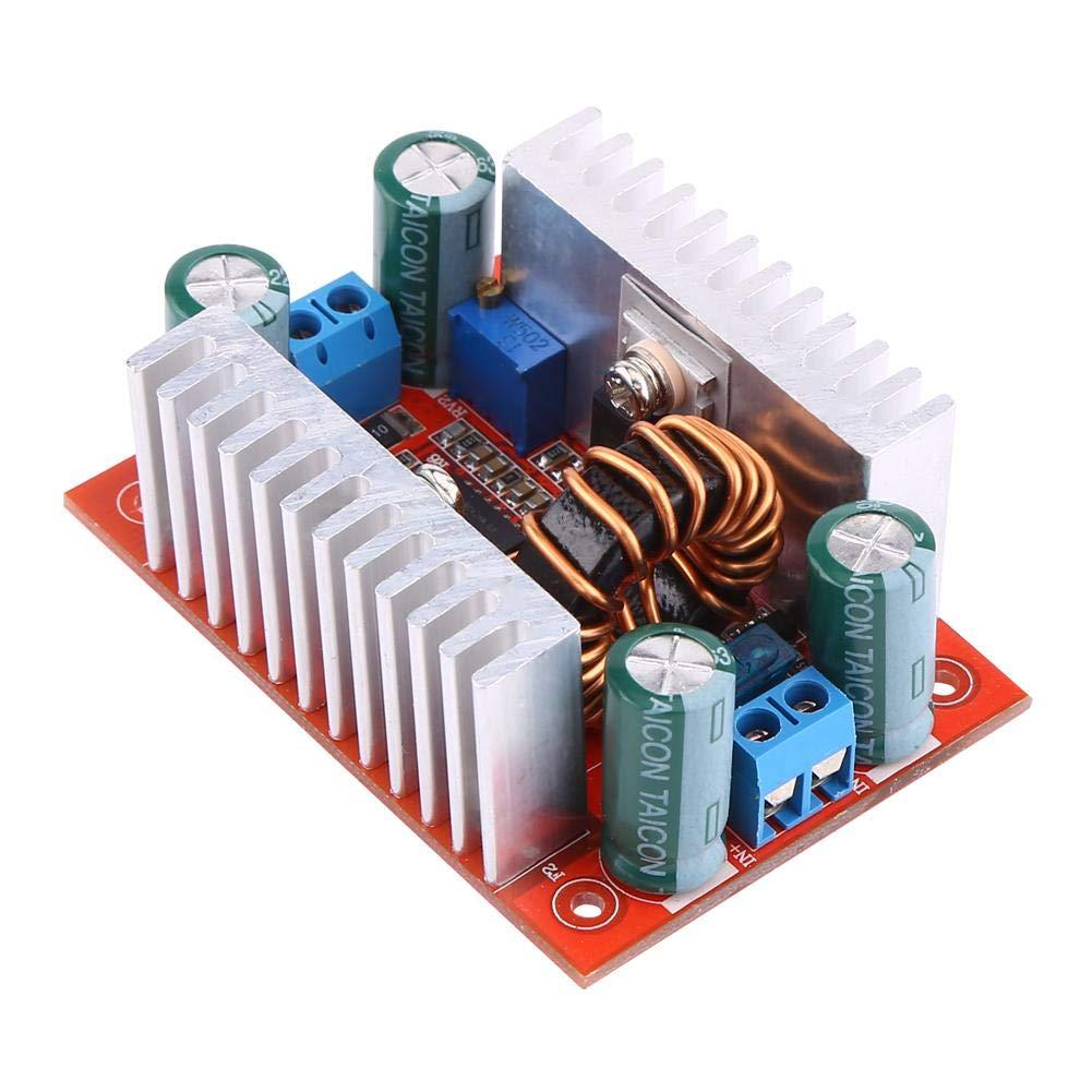 Boost Voltage Converter, 400W Step-up Converter Constant Current Power Supply Module DC 8.5V-50V 15A to DC 10V-60V 12A Boost Converter