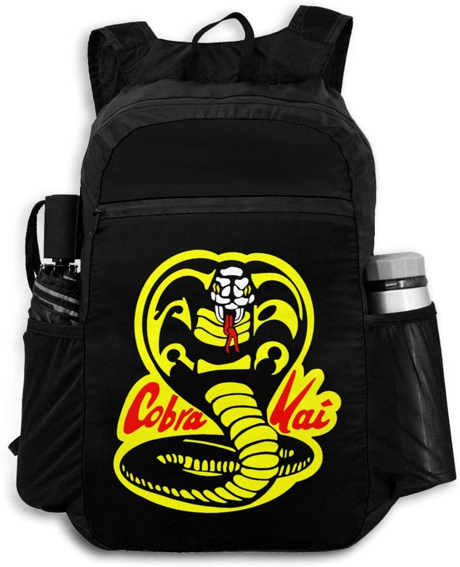 Cobra Kai Logo Man's Lady's Travel Backpack Multi-Functional Package