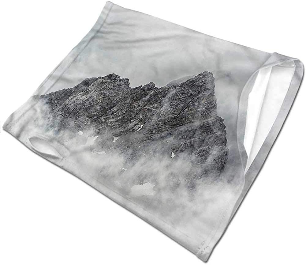 Headwear Mountain,Foggy Mountain Peak Headband Neck Gaiter