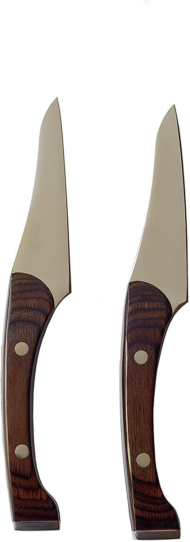 KNORK Pakkawood Paring Knives, Set of 2