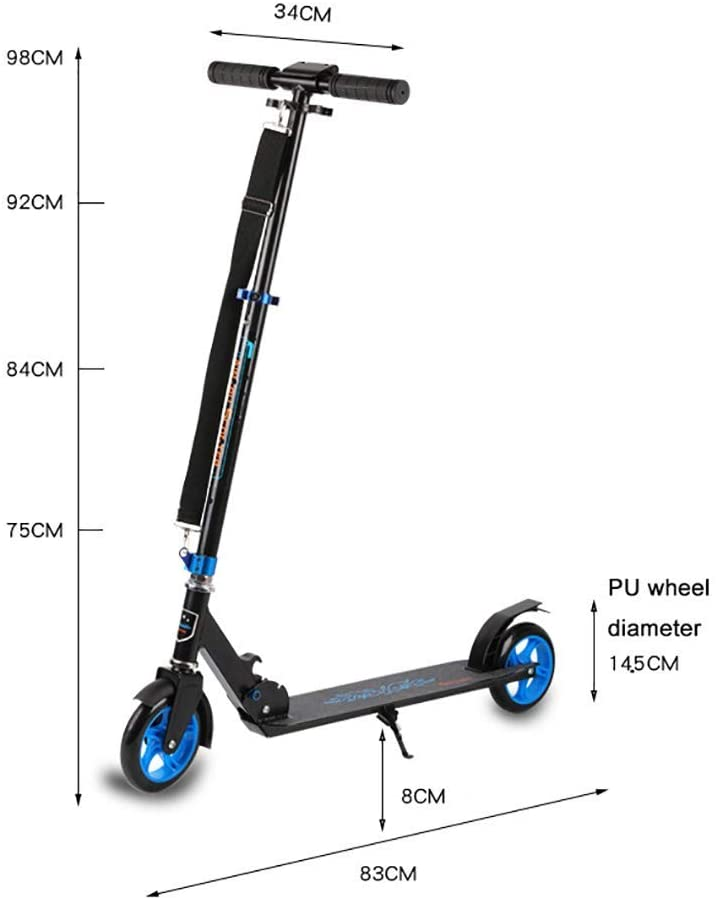 PLLP Child Foldable Scooter-Scooter Kick Folding Adult Kick with Adjustable Handle, Shock Absorption Teens, 220Lbs Capacity, Rear Brake/Reflector, Foot Support