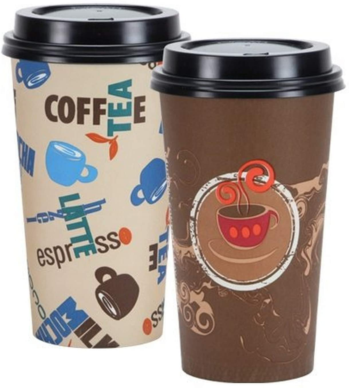 Nicole Home Collection Disposable Hot Lid-20 oz | Pack of 12 Coffee Cup, 20 oz, Multicolor