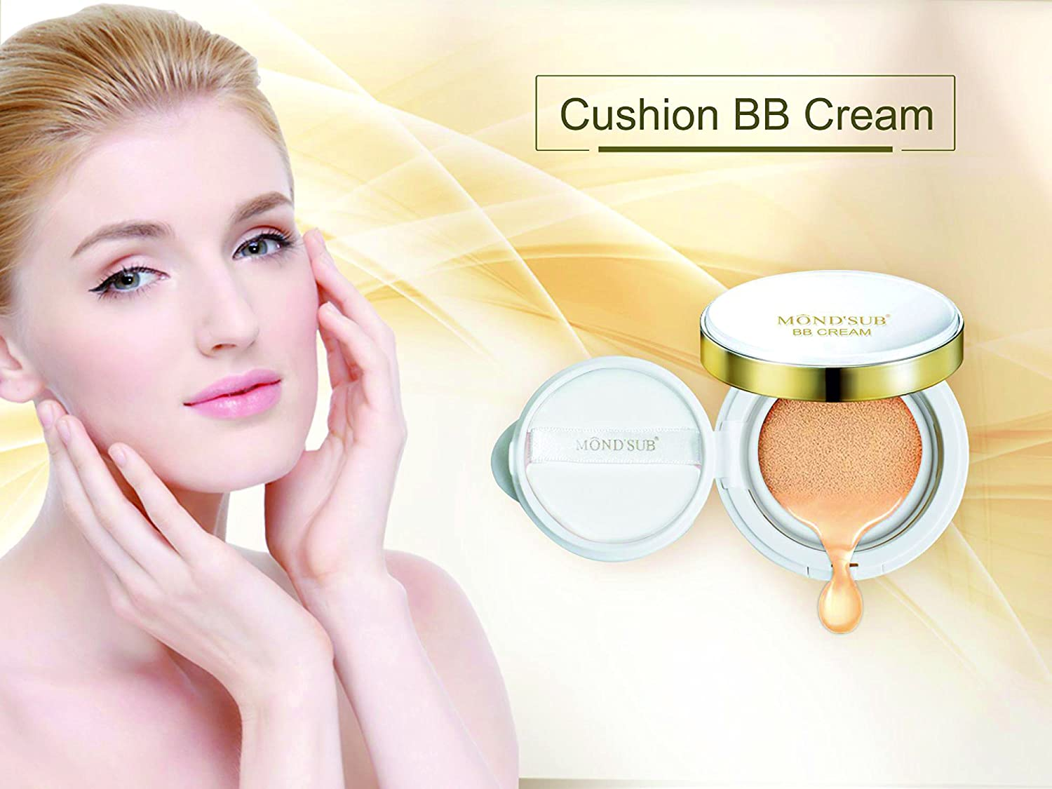 BB Cream Cushion BB Foundation Flawless look Bronze Color Brown Color Elitzia ETCBB606 (Brown)
