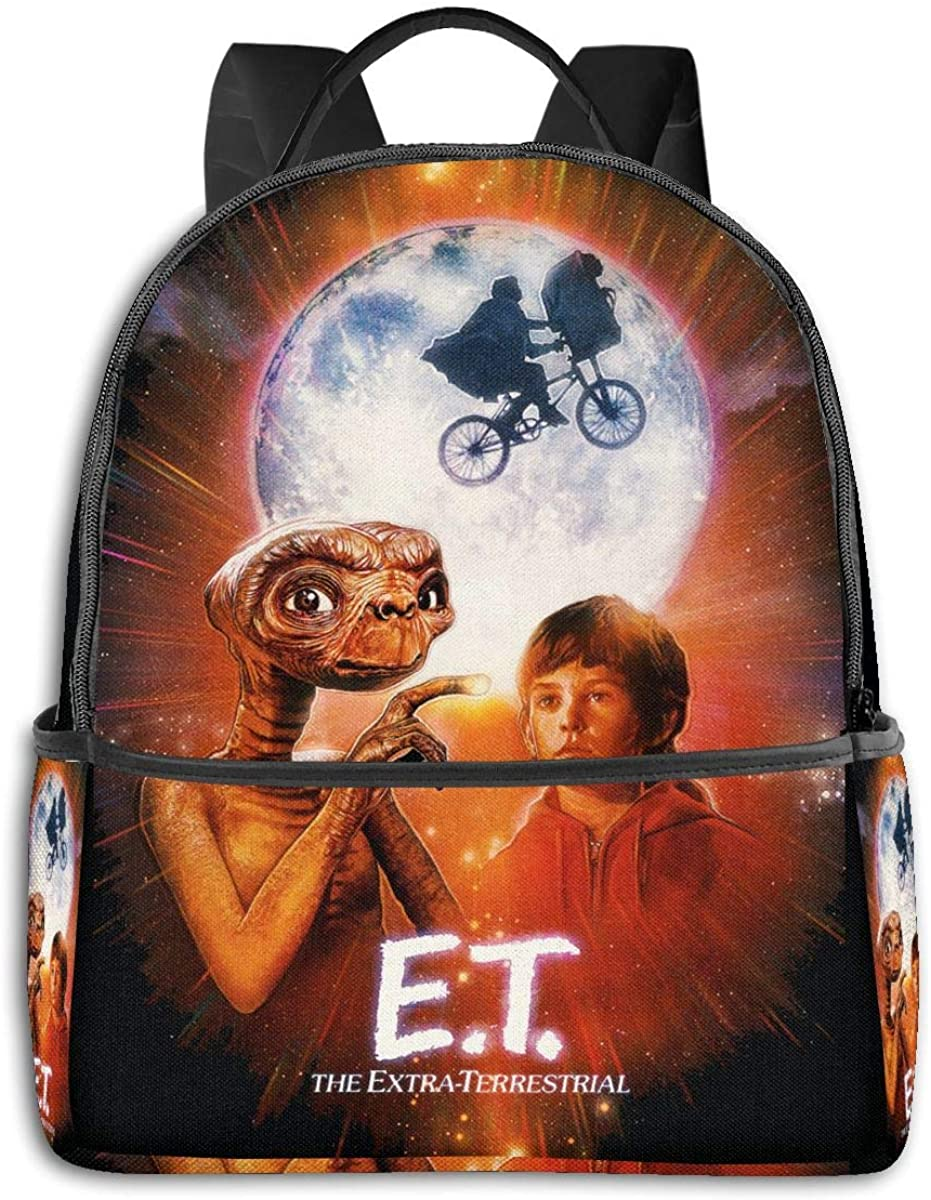 Mr.Wessly E.T. The Extra-Terrestrial Nylon Lining, Breathable Back Panel, Smooth Zipper.Best Gift.