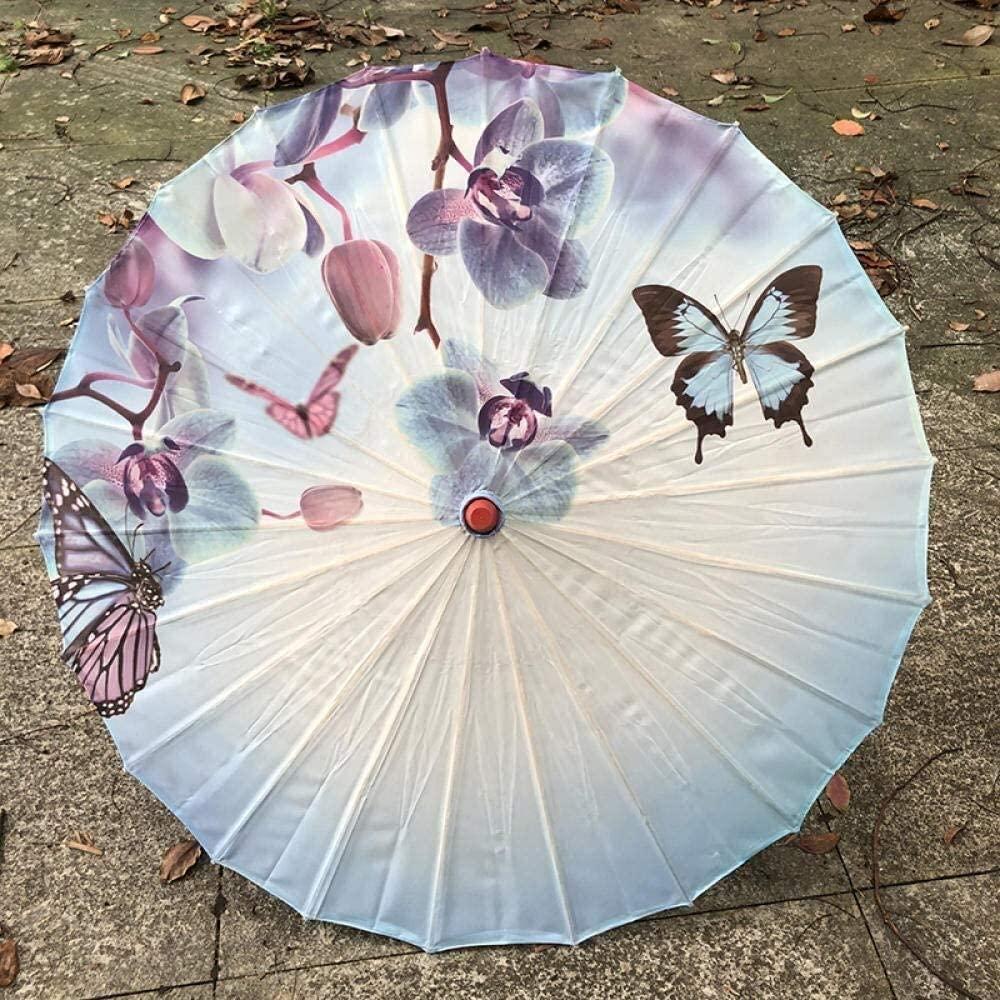 ASDF Umbrellas Chinese Vintage Silk Umbrella Wedding Decor Photo Shoot Parasol Dance Props