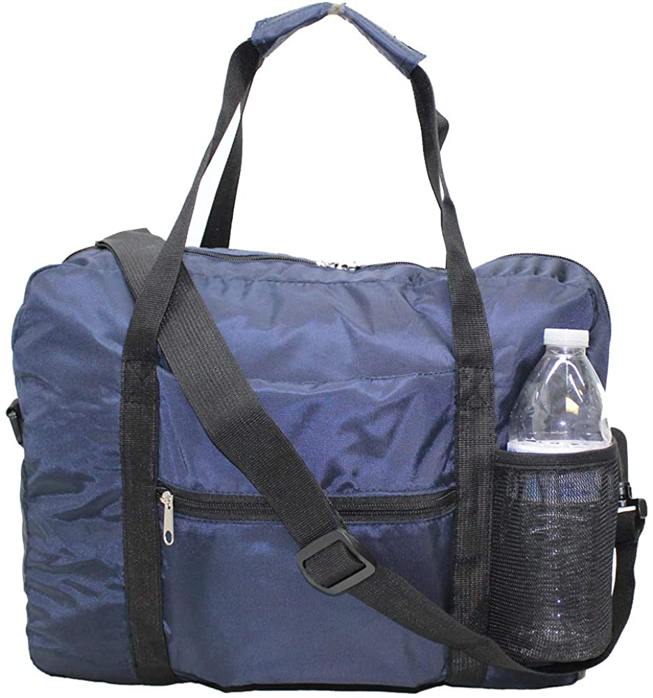 """16"""" (40cm) KLM Airlines Expandable Patent HAND BAGGAGE Personal Item for European Airlines(Navy)"""
