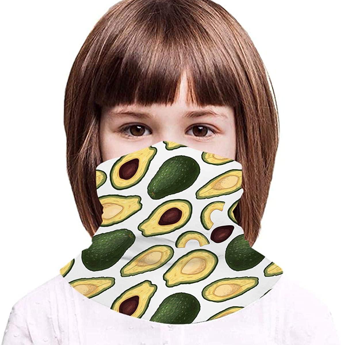 Hand Drawn Colorful Engraved Kids Bandanas Reusable Washable Neck Gaiter Balaclava,Half Face Protective Masks