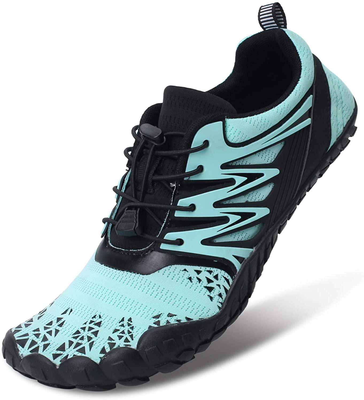 L-RUN Mens Womens Water Shoes Quick Dry Aqua Shoes Blue Women 12.5, Men 10.5 M US