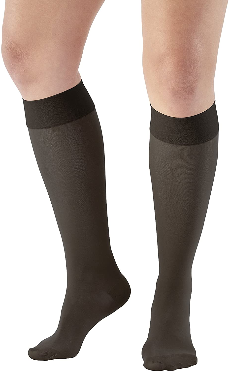 Ames Walker AW Style 235 Signature Sheers 15 20 Closed Toe Knee Highs Black XL