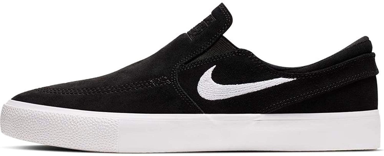Nike SB Zoom Janoski Slip RM Canvas Skateboarding Shoes (10 M US, Black/White-White)