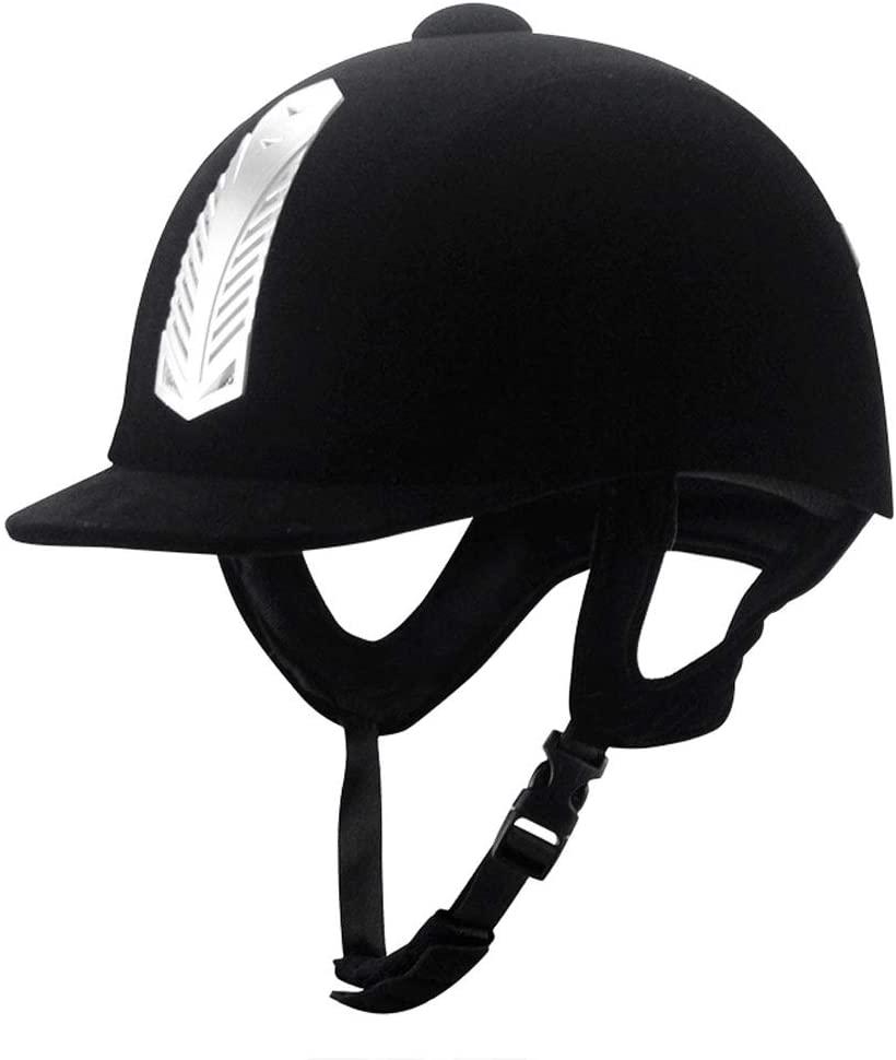 Woljay Sportage Equestrian Helmet Horse Riding Sport Helmets Black 57-61cm