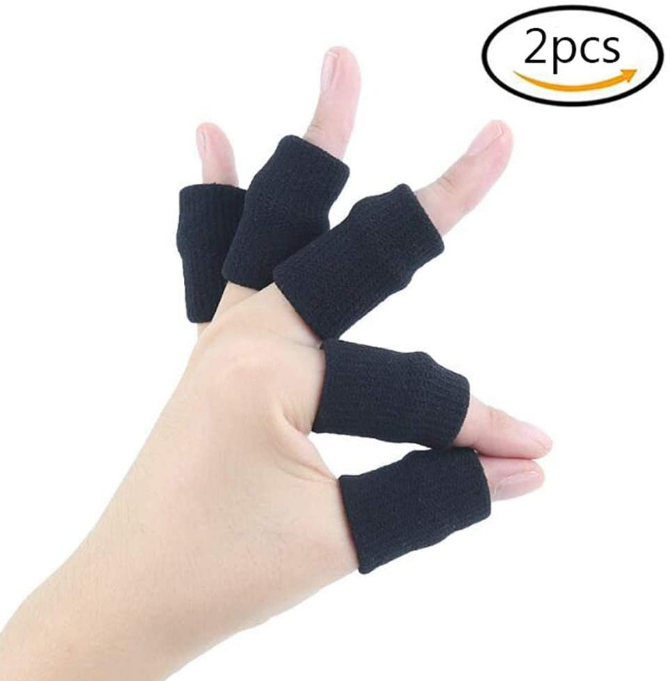 HAIHF 10x Finger Protector Sleeve, Arthritis Stretchy Support Sports Aid Finger Sleeves Thumb Braces Support Elastic Compression Protector Braces for Relieving Pain Calluses Arthritis