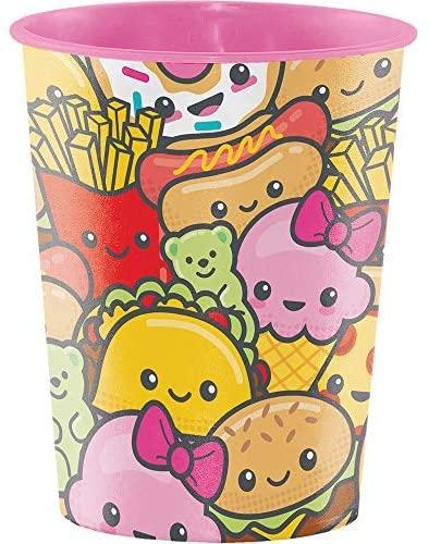 "Creative Converting Junk Food Fun Plastic Cup, 4.5"", Multicolor"