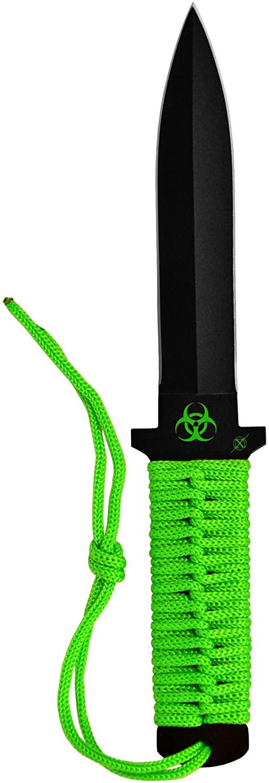 Factory X KB3005 Codename Commando Biohazard Low Profile Knife, Green