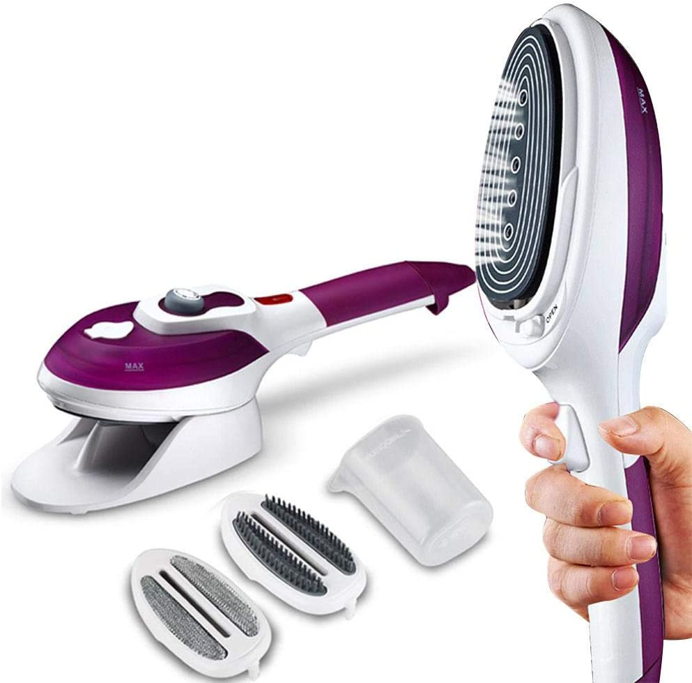 YJQWDDD Household Vertical Steamer Garment Steamers Irons Brushes Iron for Ironing Clothes Purple EU