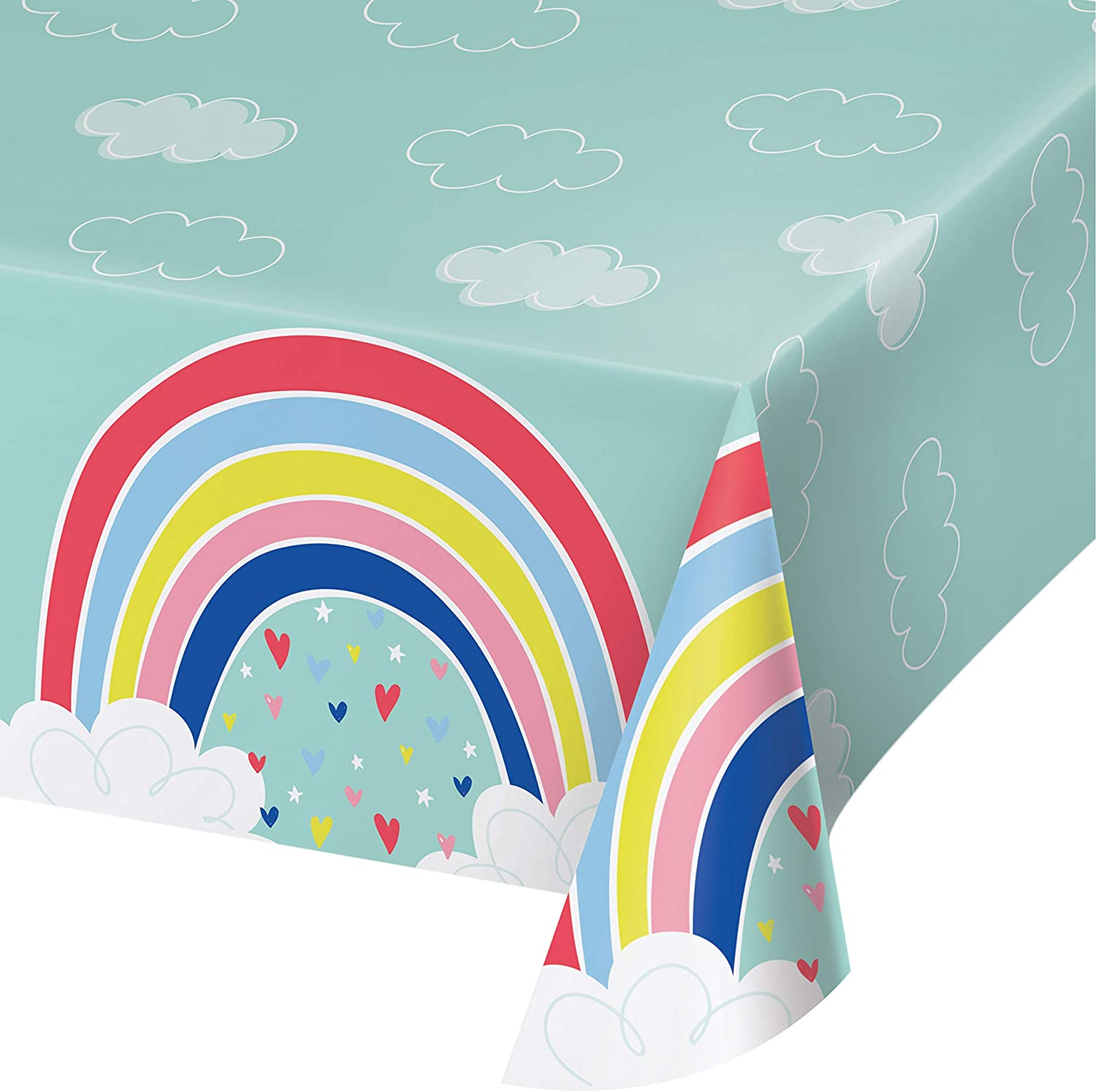 Over the Rainbow Plastic Tablecloth, 1 ct