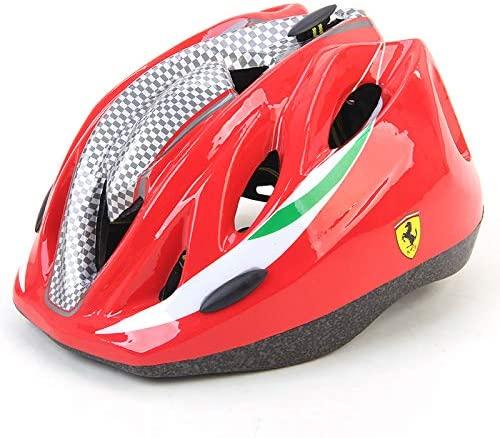 MESUCA Ferrari Kids Helmet Adjustable Sports Protective Gear for Roller Bicycle Bike Skateboard Outdoor Head Safety