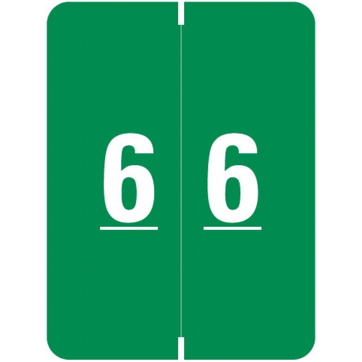 SMEAD COMPATIBLE SMNM-6 Xlcc Color Code Label, Permanent, Numeric