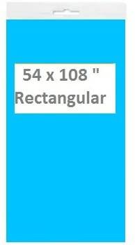 K-Kraft Turquoise Blue Plastic Table Covers (54