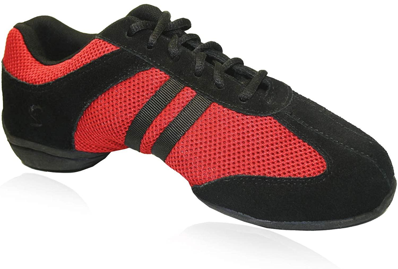 Skazz by Sansha Womens Dance Studio Exercise Sneakers Suede Leather Split-Sole Dyna-mesh (US 17 / Skazz 18 M)