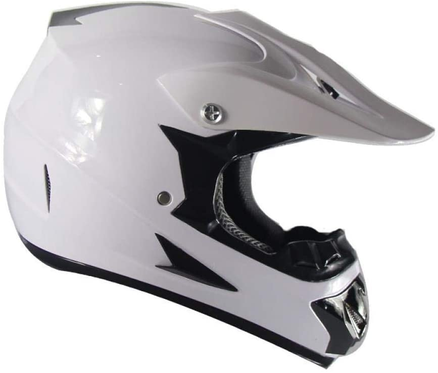 Home bathroom products Motorcycle Helmet, Off-Road Helmet Road Racing Off-Road Helmet for Outdoor Cycling, White Monochrome, S
