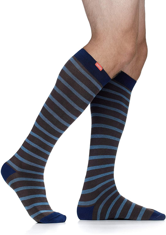 VIM & VIGR Cotton 15-20 mmHg Graduated Compression Socks for Women & Men