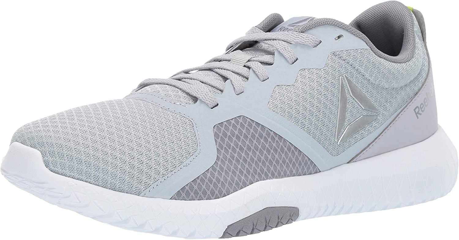 Reebok Men's Flexagon Force Cross Trainer, Cold Grey/White/Neon Lime/Silver