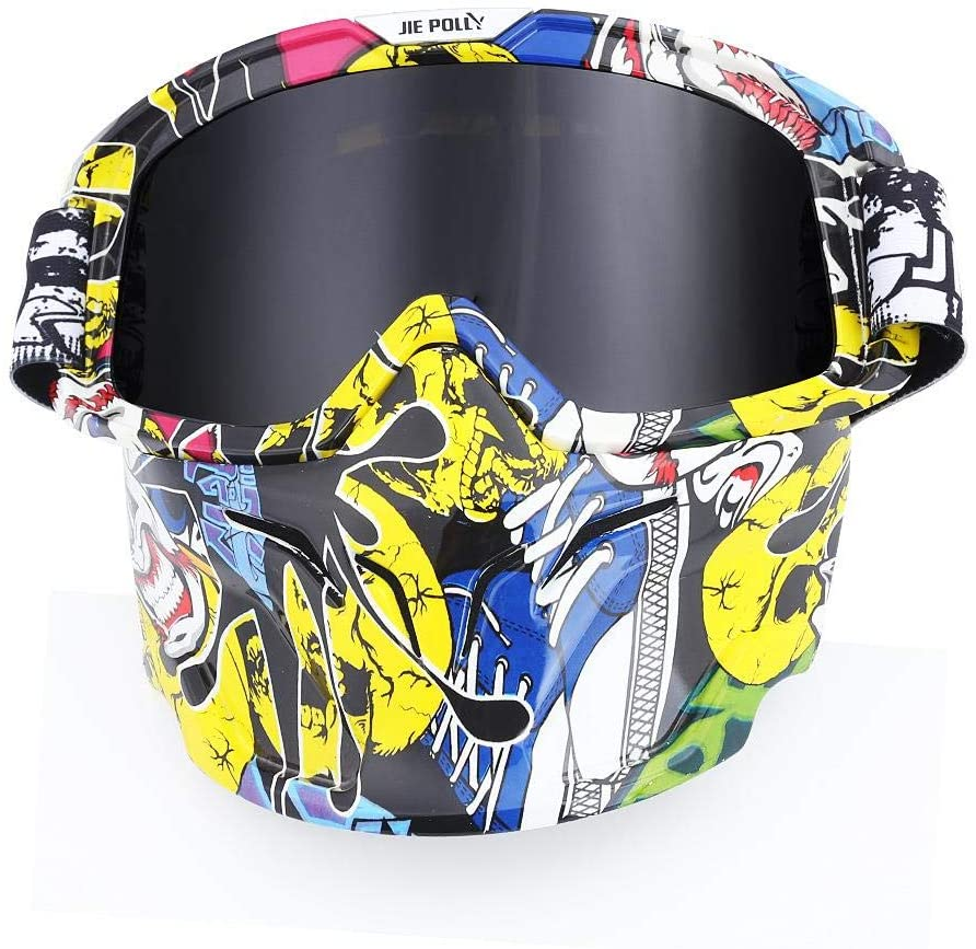 Home bathroom products Motocross Goggles, Motocross Goggles, Retro Goggles, Helmet Windproof, A01 Gray Piece