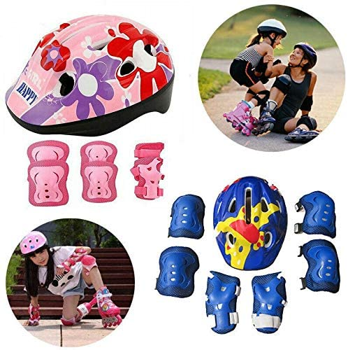 Professional Comfort Childrens Outdoor Sports Protective Equipment, Childrens Skating Bicycle Protective Gear, Skating Protective Gear Set, Adult Childrens Gifts Multifunction (Color : Pink)