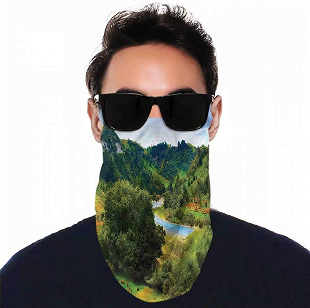 Bandana Nature,New Zealand Autumn River Headband Neck Gaiter