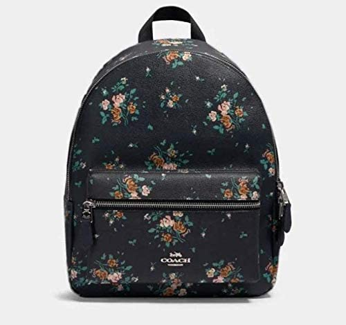 Coach Medium Charlie Backpack with Rose Bouquet Print, 91530