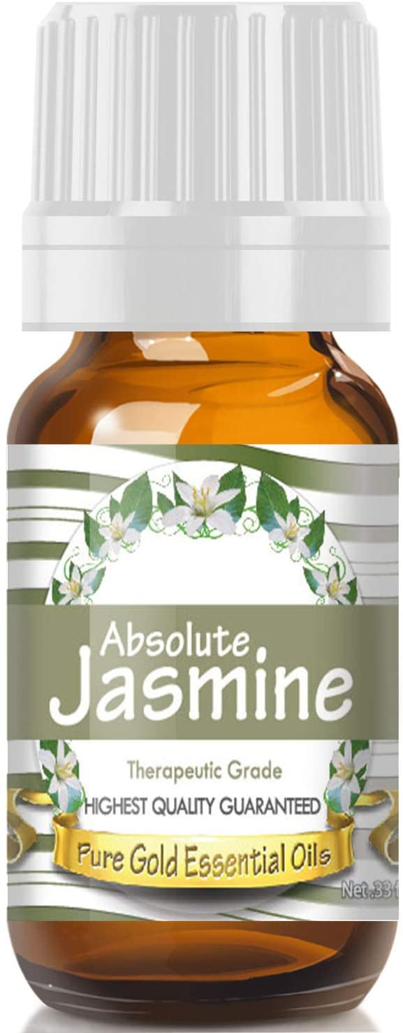 Pure Gold Jasmine Absolute Essential Oil, 100% Natural & Undiluted, 10ml