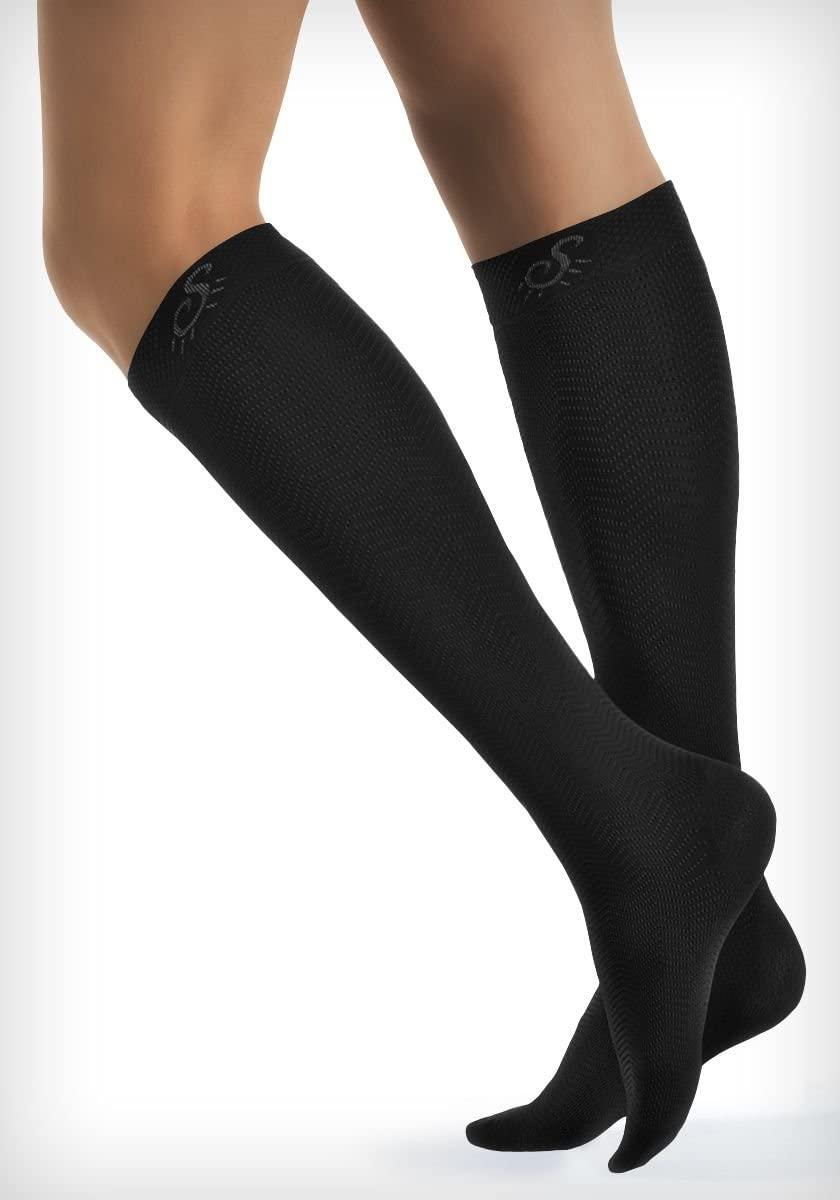 Solidea 0440A5-L-CA Active Energy Micro Massage Knee-High Socks-Lg-Camel