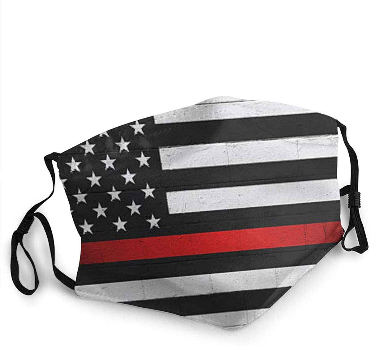 Fashion Protective Face Masks, Black and White American Flag Unisex Dust Mouth Masks, Washable, Reusable Masks
