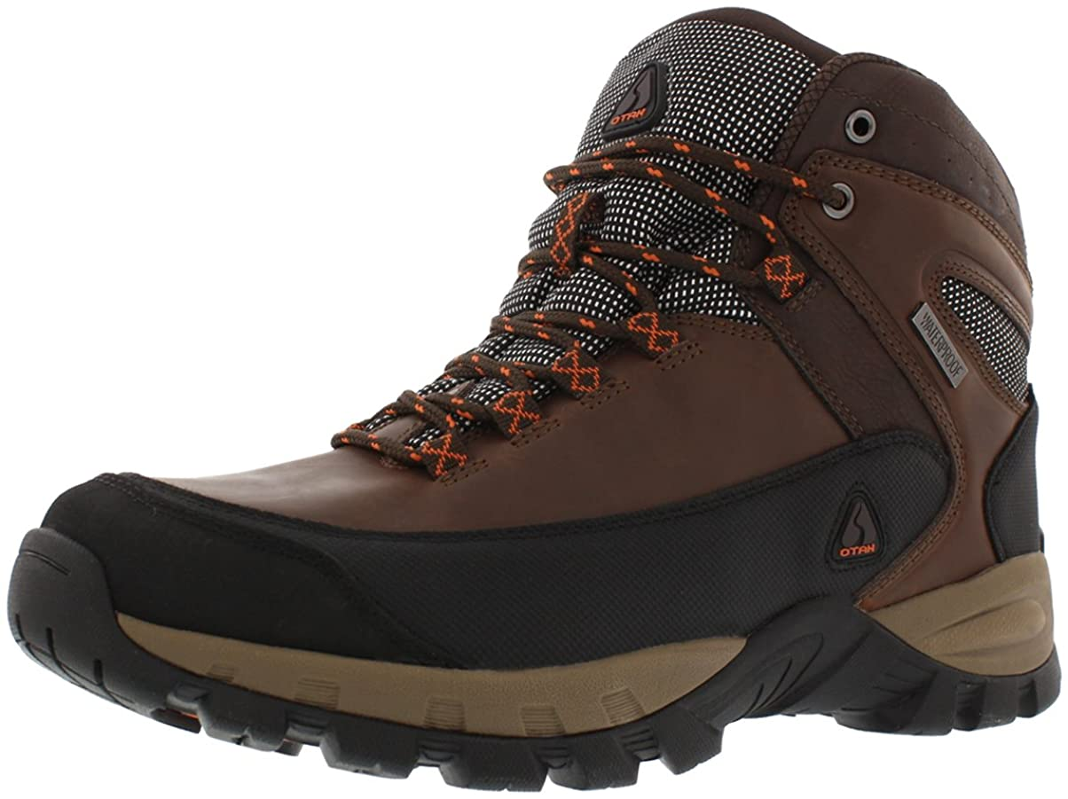 OTAH Forestier Mens Waterproof Hiking Mid-Cut Brown/Black Boots