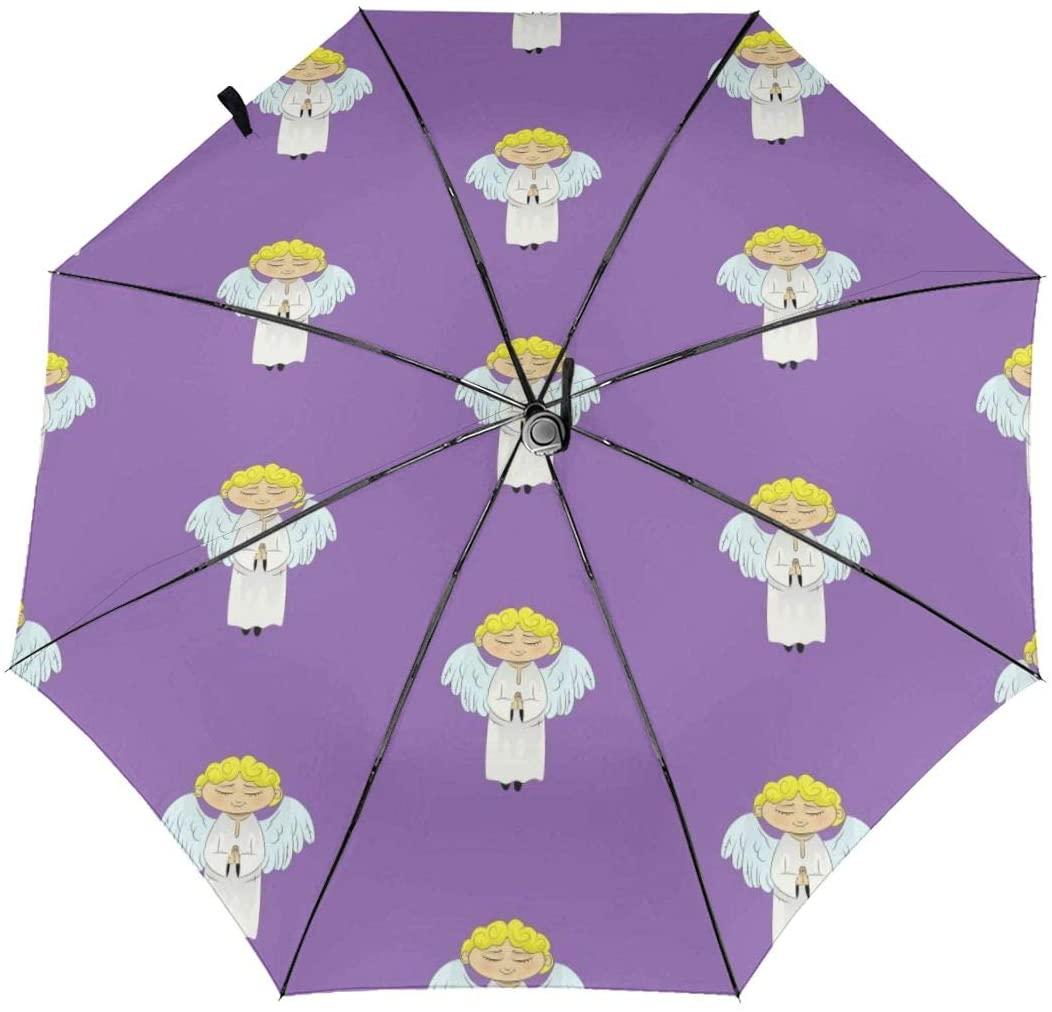 CHAN03 Nurse Angel Automatic Tri-fold Sunscreen Umbrellas Folding Umbrella