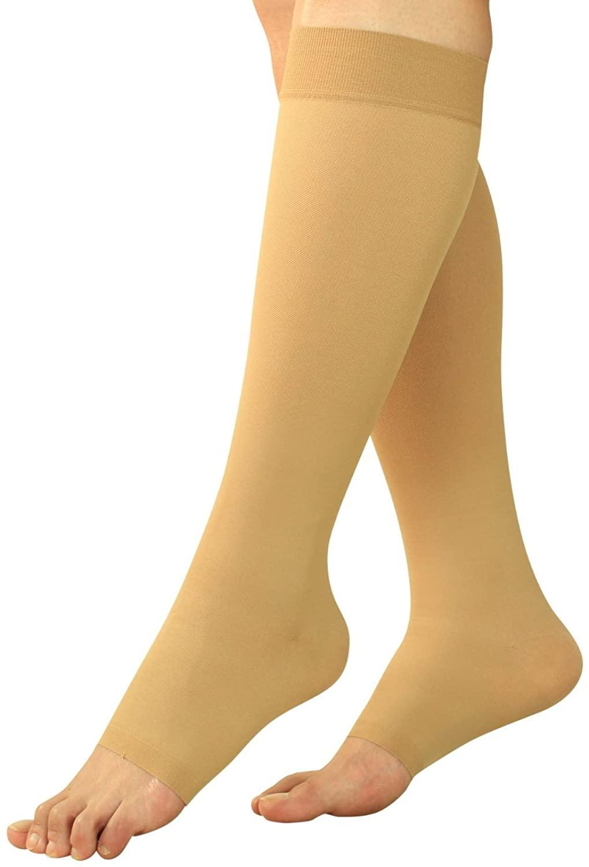 Maternity Compression Socks - Pregnancy Stockings & Leggings Knee High Open Toe
