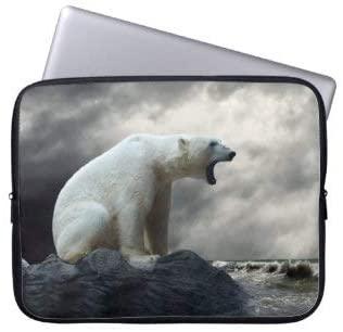 Polar Bear Roaring Laptop Sleeve Bag Notebook Computer PC Neoprene Protection Zipper Case Cover 15 Inch