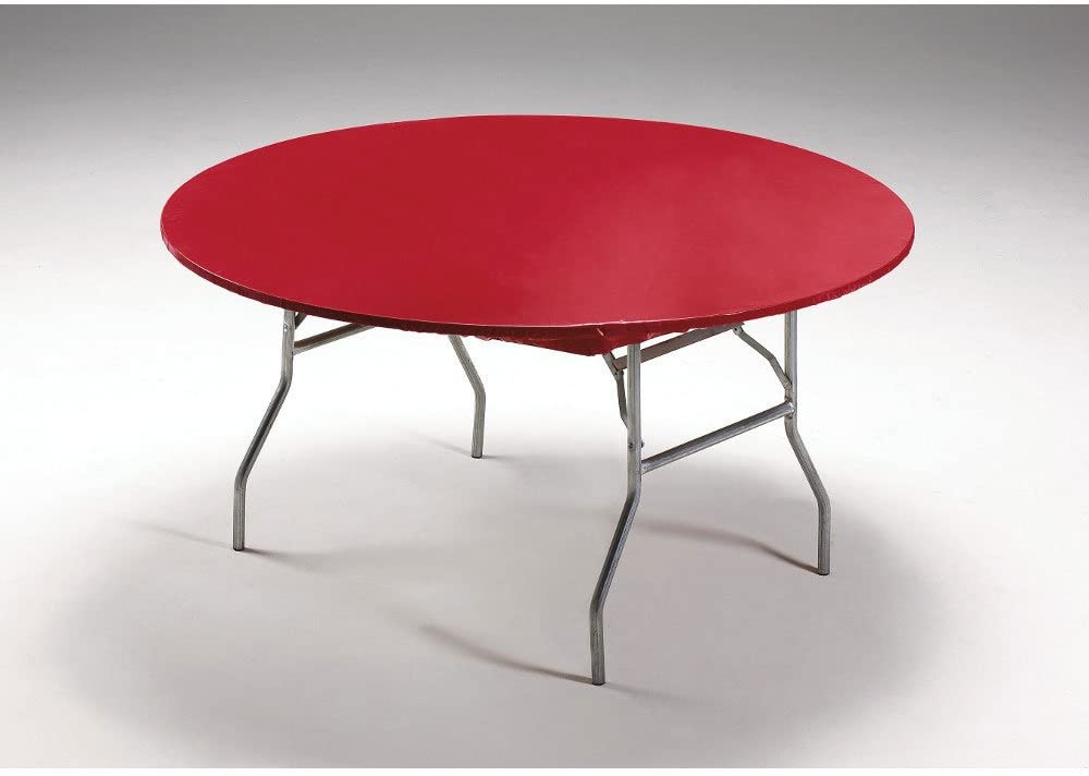 Creative Converting 37227 Real Red Plastic Tablecover Stay Put 60