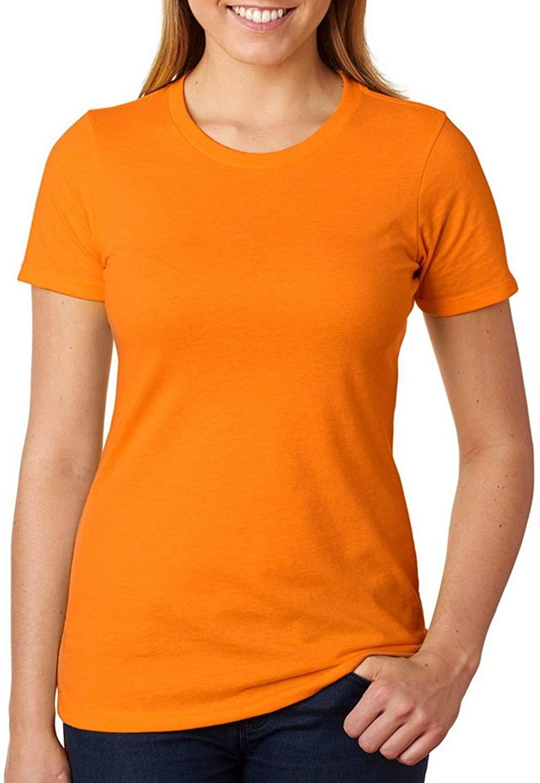 Next Level 6610 Ladies Crew Tee Orange Large