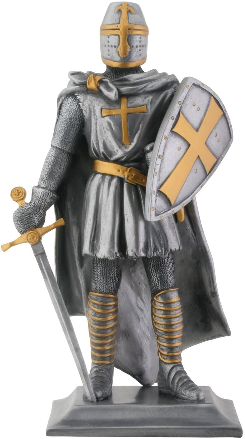 Templar Knight Medieval Collectible Statue Figurine-H: 9