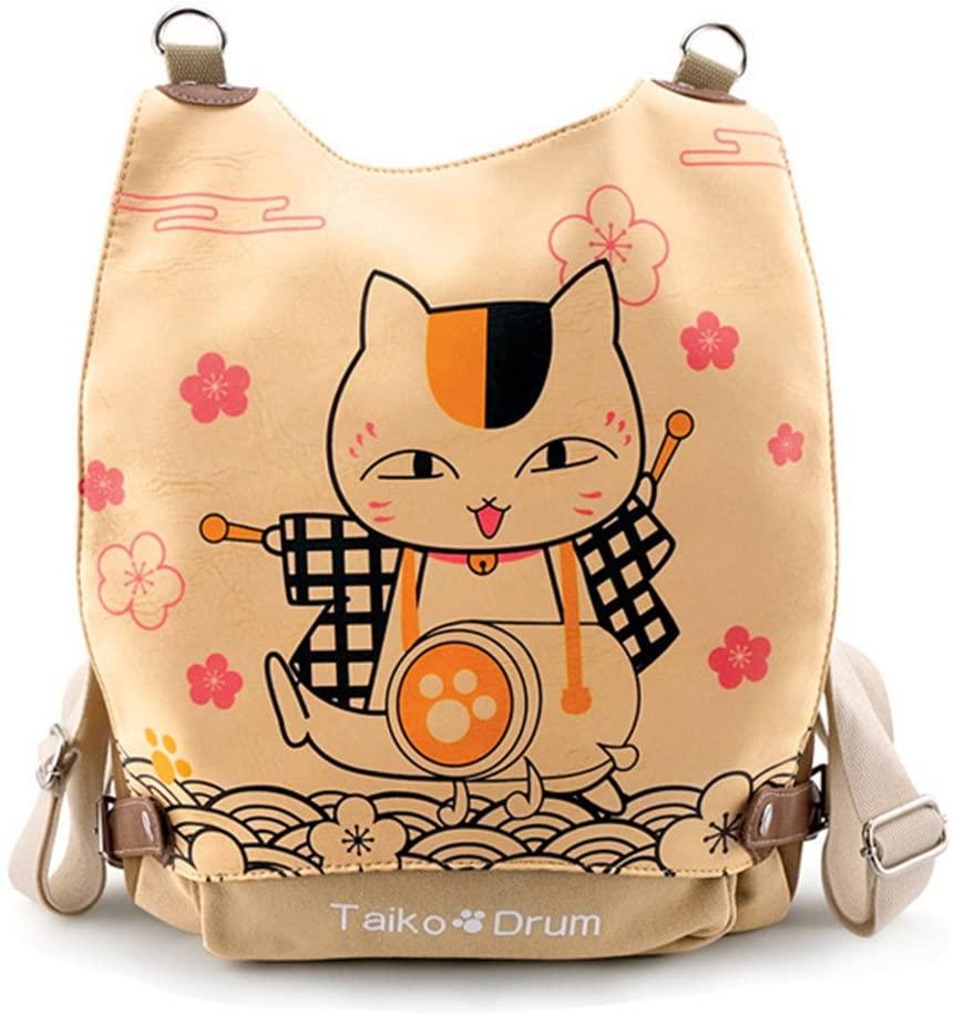 Gumstyle Natsume Yuujinchou Anime Cosplay Multipurpose Backpack Crossbody Sling Shoulder Bag for Girls Women